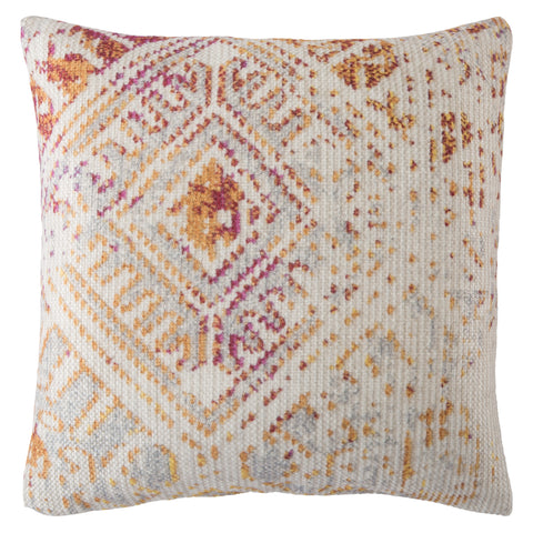 Siva Indoor/ Outdoor Tribal Pink & Gold Pillow