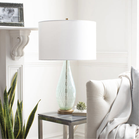 Glasshouse GSH-003 Table Lamp in Aqua & Off-White by Surya