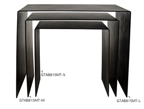 Yves Side Table in Various Sizes by Noir