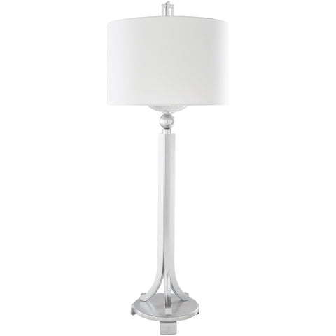 Gustav GTV-002 Table Lamp in Nickel & White by Surya