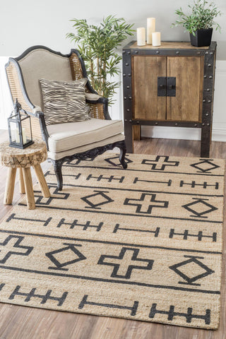 Hand Loomed Barry Rug in Natural design by NuLoom