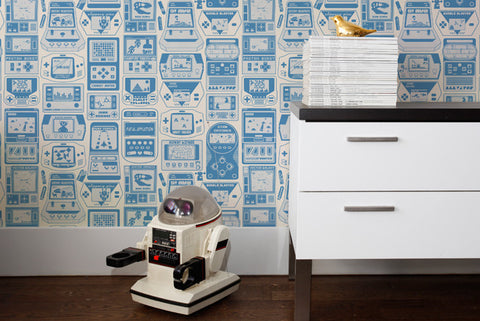 Gameland Wallpaper in Cielo design by Aimee Wilder