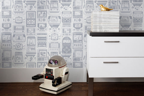 Gameland Wallpaper in Glimmer design by Aimee Wilder