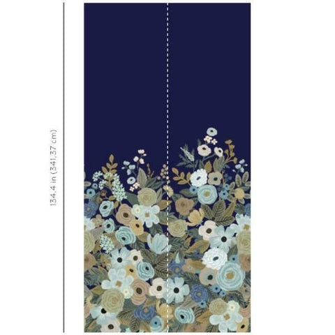 Garden Party Wall Mural in Navy from the Rifle Paper Co. Collection by York Wallcoverings