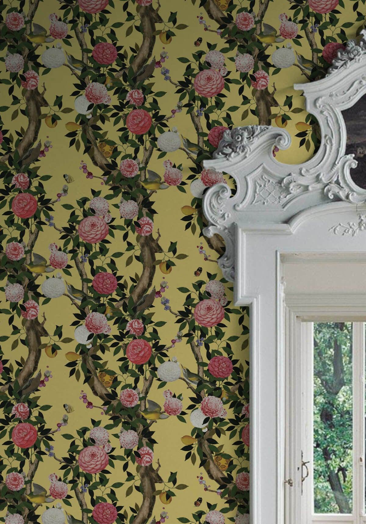 Garden Bloom Wallpaper in Golden Pear from the Kingdom Home ...