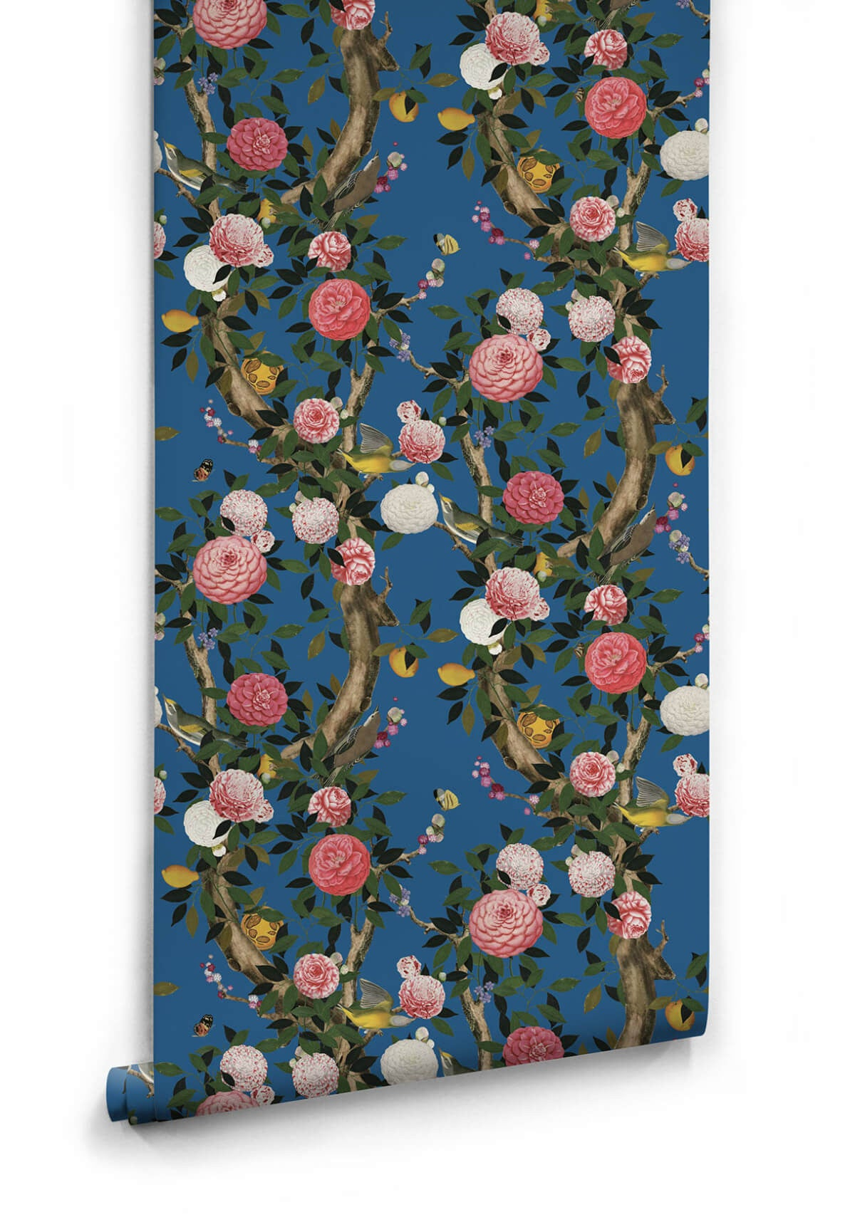 Sample Garden Bloom Wallpaper in Iznik from the Kingdom Home Collection by Milton & King