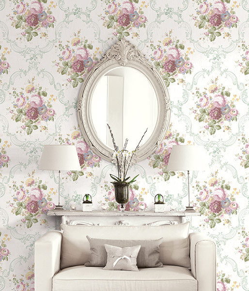 Garden Cameo Wallpaper from the Spring Garden Collection by Wallquest