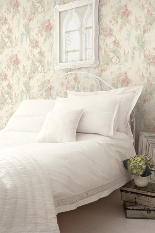 Garden Linen Wallpaper from the Watercolor Florals Collection by Mayflower Wallpaper