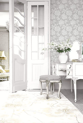 Garden Rose Wallpaper in Heather from the Spring Garden Collection by Wallquest