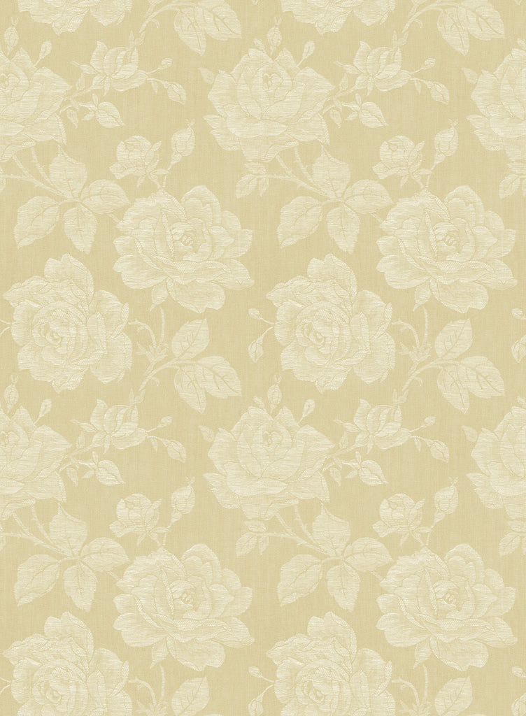 Sample Garden Rose Wallpaper in Blond from the Spring Garden Collection by Wallquest