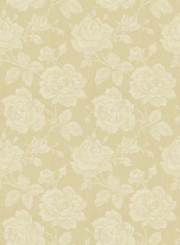 Garden Rose Wallpaper in Blond from the Spring Garden Collection by Wallquest