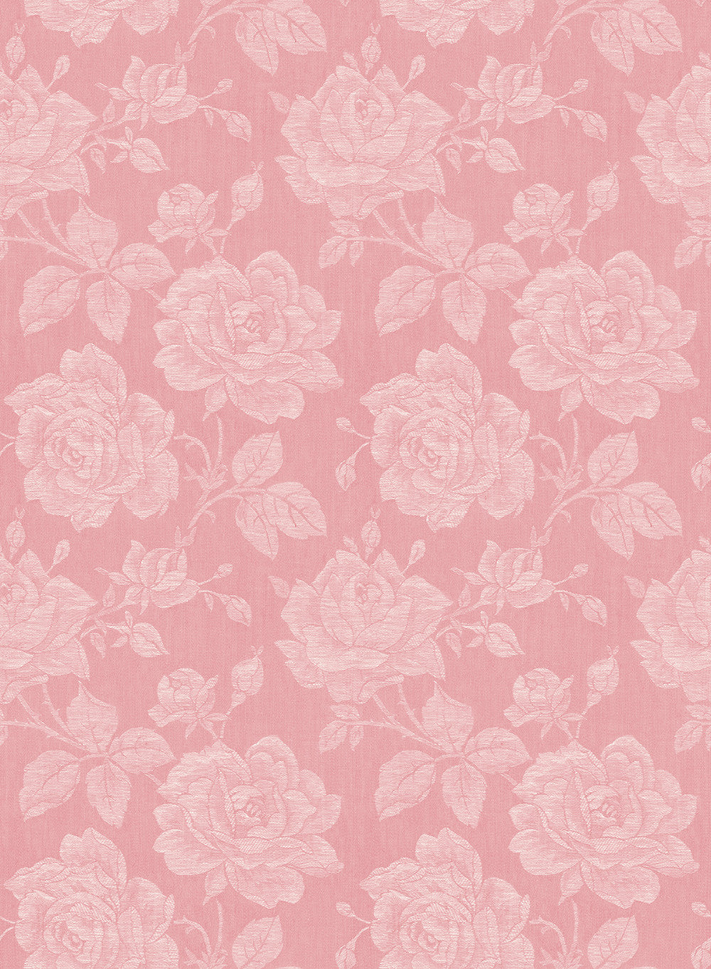 Garden Rose Wallpaper In Coral From The Spring Garden Collection