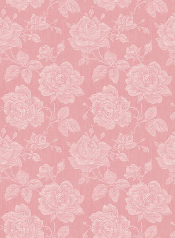 Garden Rose Wallpaper in Coral from the Spring Garden Collection by Wallquest