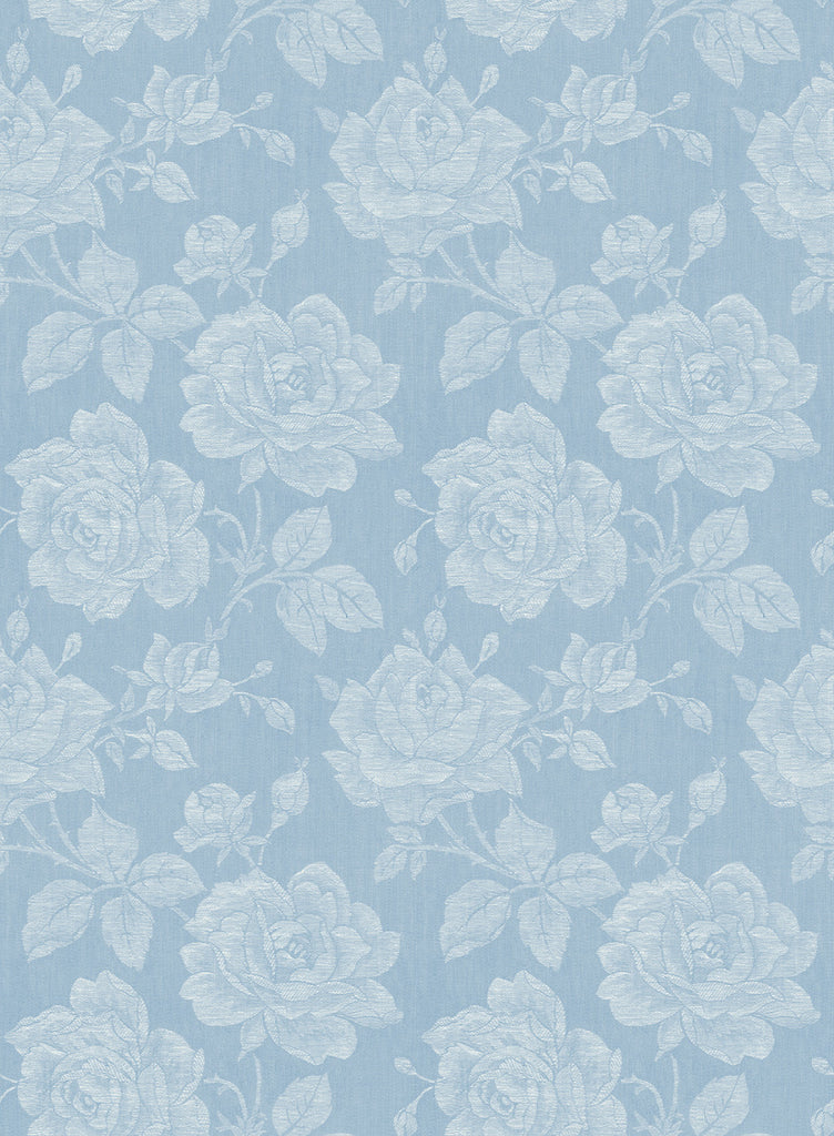 Garden Rose Wallpaper in True Blue from the Spring Garden Collection by Wallquest