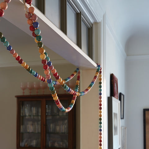 Hand Painted Garland in Various Colors