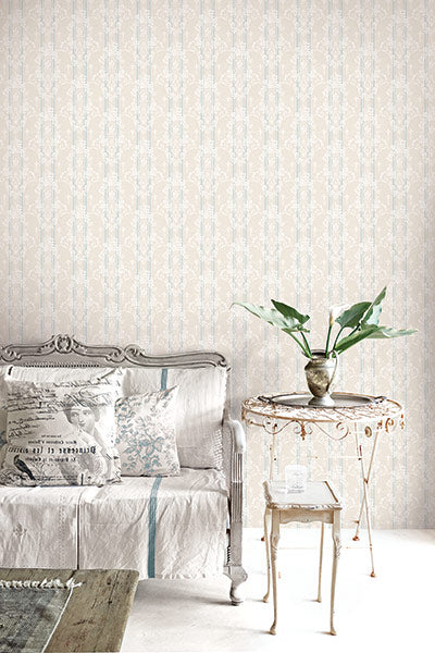 Gated Garden Wallpaper from the Spring Garden Collection by Wallquest