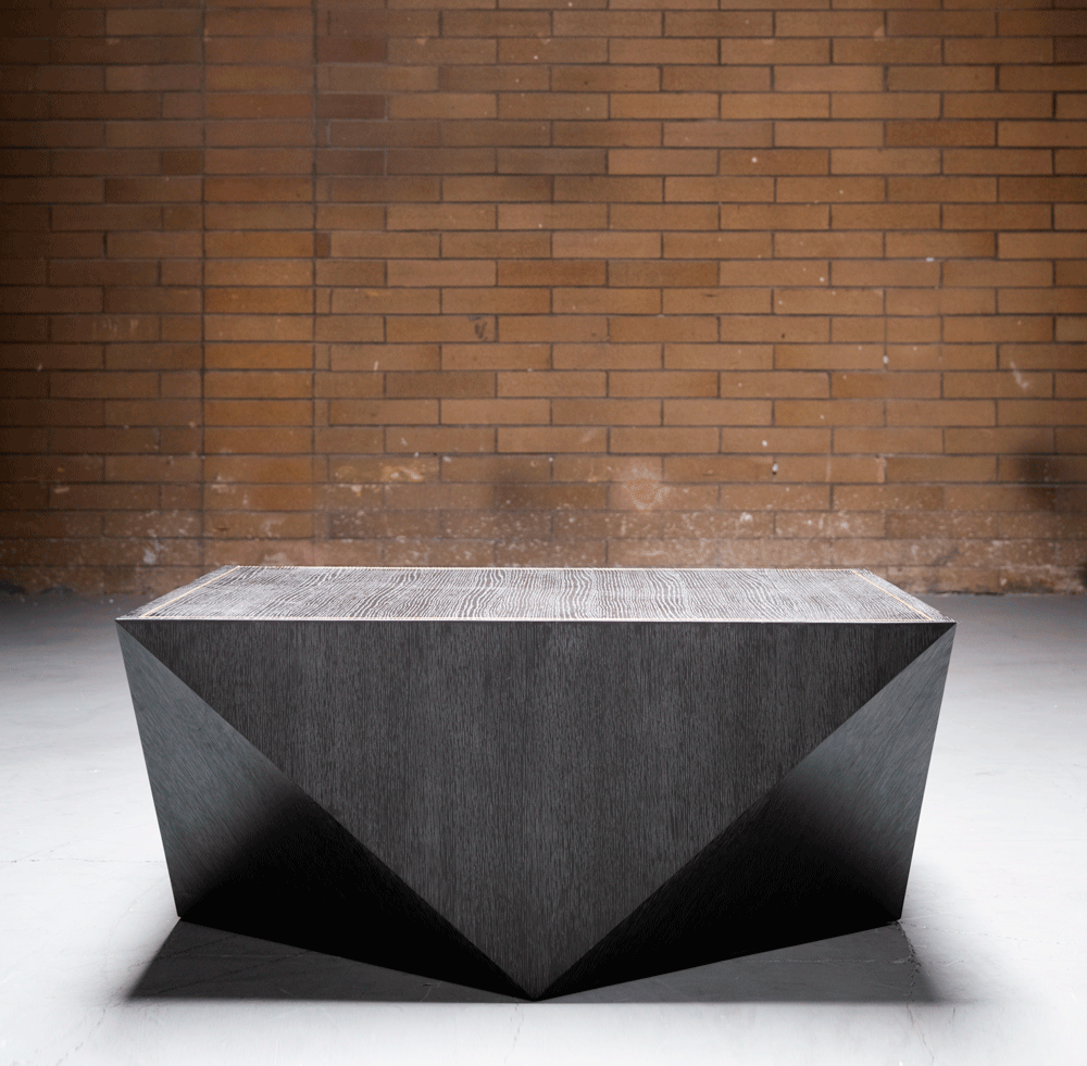 Gavin Coffee Table in Brushed Carbon