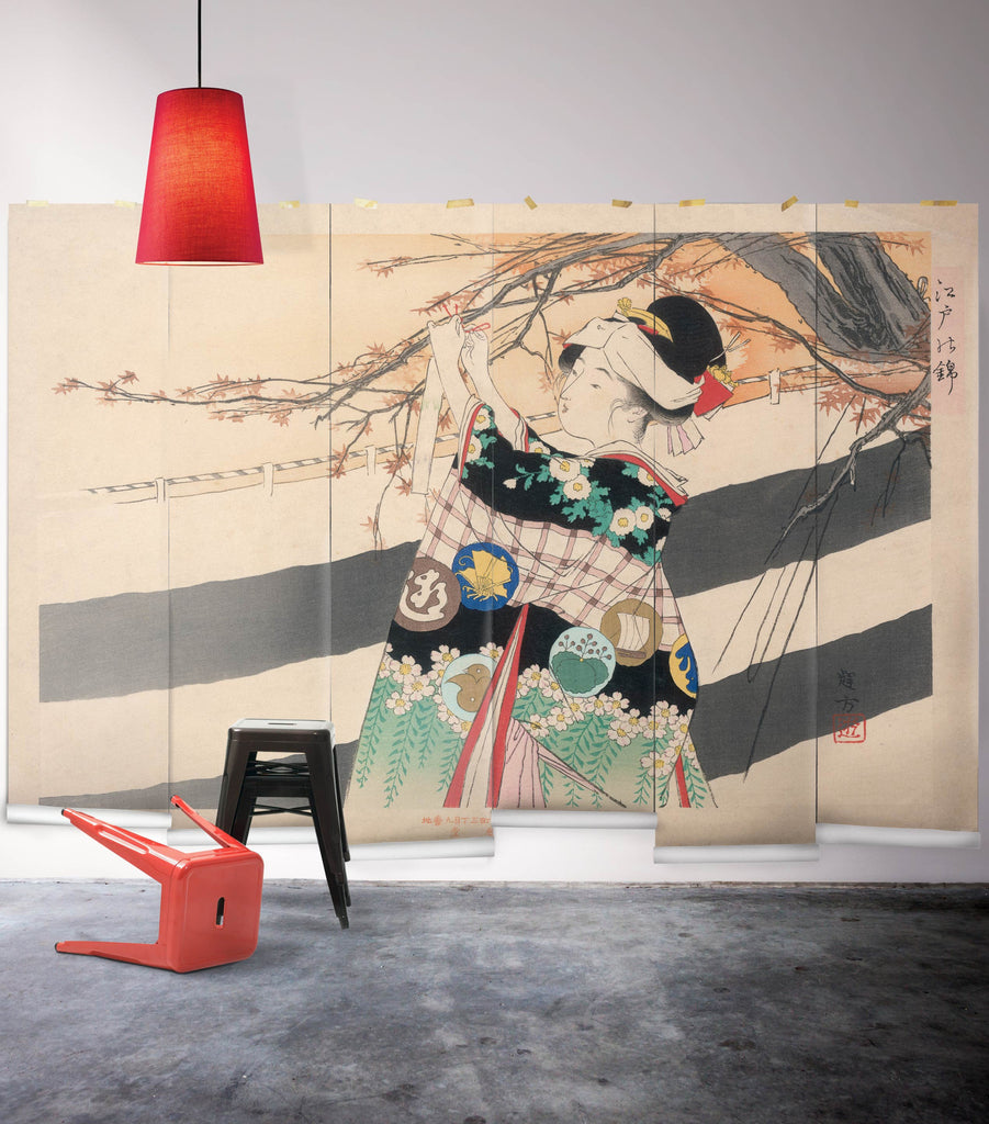 Sample Geishas Garden Wall Mural from the Erstwhile Collection by Milton & King