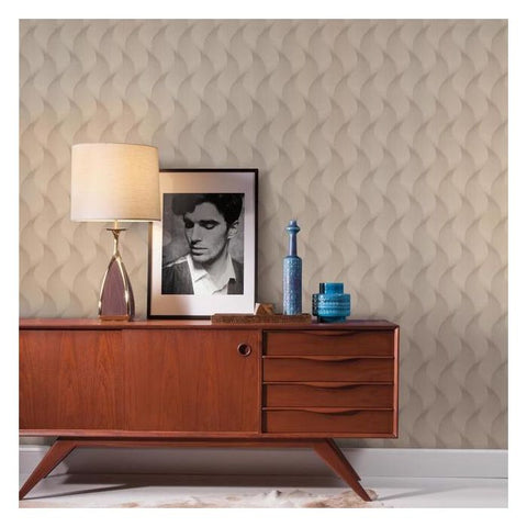 Genie Wallpaper in Grey and Light Grey from the Urban Oasis Collection by York Wallcoverings