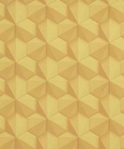 Geo Modern Wallpaper in Yellow from the Loft Collection by Burke Decor