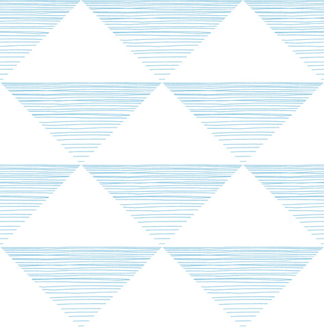 Geo Stripe Wallpaper in Sky Blue from the Day Dreamers Collection by Seabrook Wallcoverings