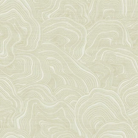 Geodes Wallpaper in Cream from the Ronald Redding 24 Karat Collection by York Wallcoverings