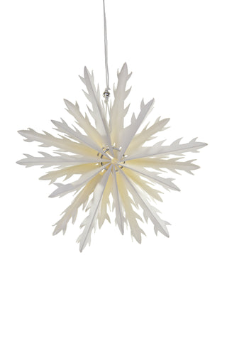 Geometric Snowflake Holiday Ornament