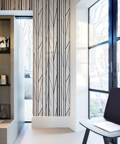 Geometric Stripes Wallpaper from the Loft Collection by Burke Decor