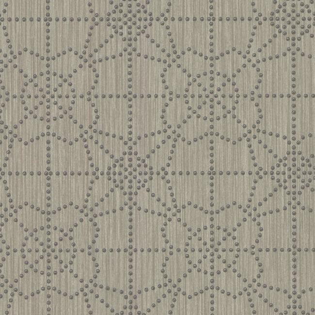 Gilded Wallpaper in Ash from the Moderne Collection by Stacy Garcia for York Wallcoverings