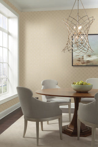Gilded Wallpaper in Birch from the Moderne Collection by Stacy Garcia for York Wallcoverings