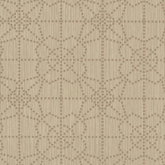 Sample Gilded Wallpaper in Brown from the Moderne Collection by Stacy Garcia for York Wallcoverings