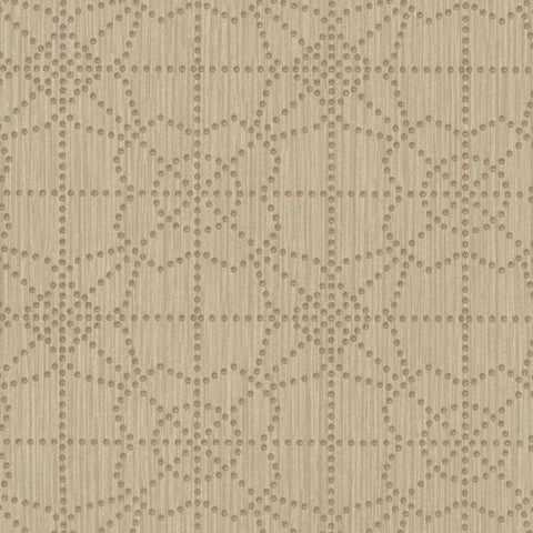 Gilded Wallpaper in Brown from the Moderne Collection by Stacy Garcia for York Wallcoverings