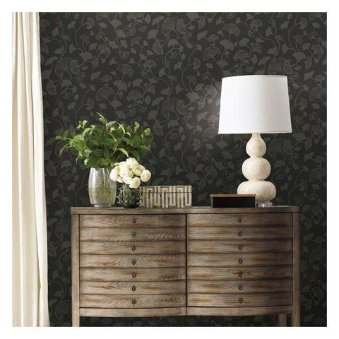 Gingko Trail Wallpaper from the Botanical Dreams Collection by Candice Olson for York Wallcoverings