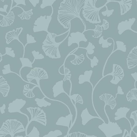 Gingko Trail Wallpaper in Blue from the Botanical Dreams Collection by Candice Olson for York Wallcoverings