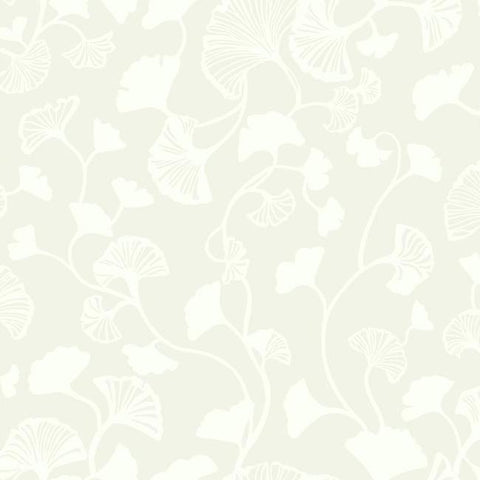 Gingko Trail Wallpaper in Cream from the Botanical Dreams Collection by Candice Olson for York Wallcoverings