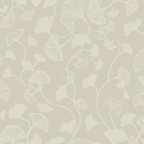 Gingko Trail Wallpaper in Tan from the Botanical Dreams Collection by Candice Olson for York Wallcoverings