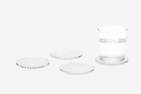 Glass Grid Coasters in Dot design by Areaware