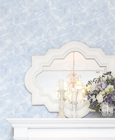 Glass Wallpaper in Cream and Silver from the Transition Collection by Mayflower