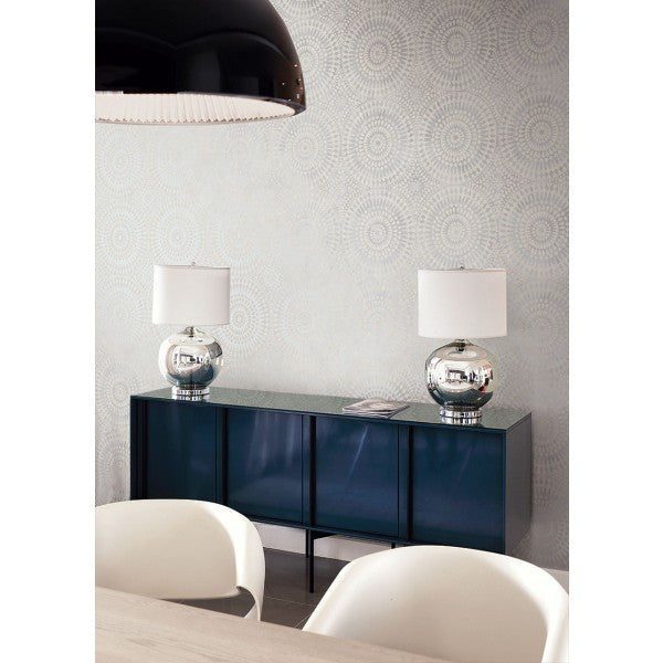 Glisten Circles Wallpaper by Seabrook Wallcoverings