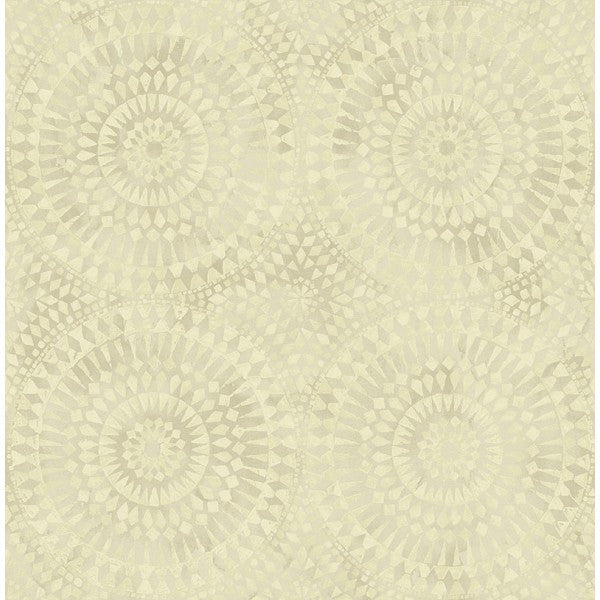 Glisten Circles Wallpaper in Pearlescent Grey and Neutrals by Seabrook Wallcoverings