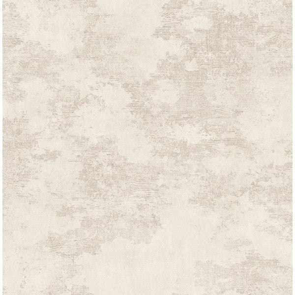 Sample Glisten Texture Wallpaper in Ivory and Pearlescent by Seabrook Wallcoverings