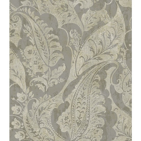 Glisten Wallpaper in Dark Grey and Neutrals by Seabrook Wallcoverings