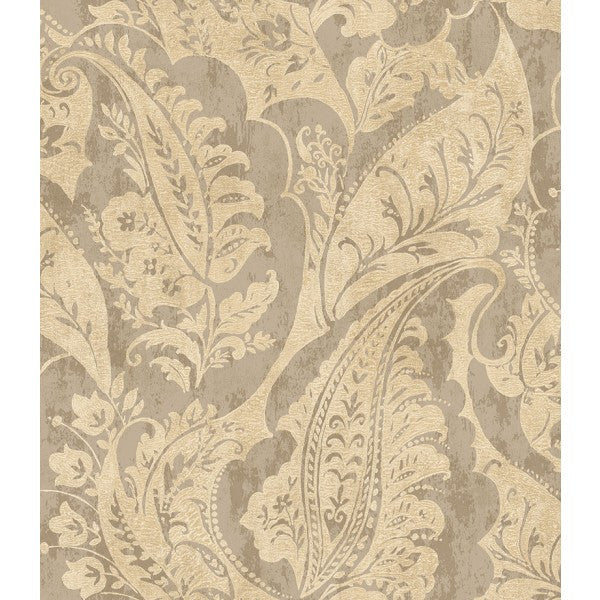 Sample Glisten Wallpaper in Grey and Beige by Seabrook Wallcoverings