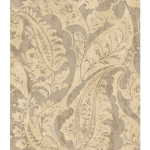 Glisten Wallpaper in Grey and Beige by Seabrook Wallcoverings
