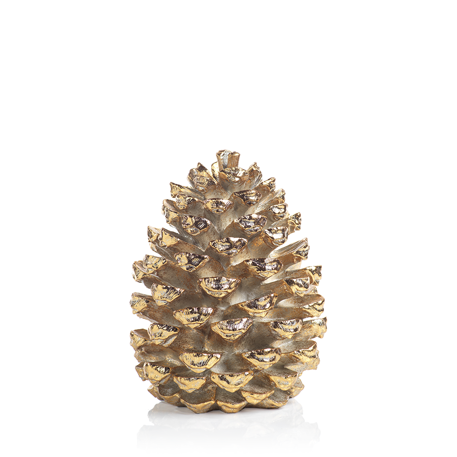 Gold Decorative Pinecone Figurine in Various Sizes