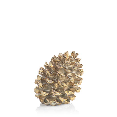 Gold Decorative Slanting Pinecone Figurine