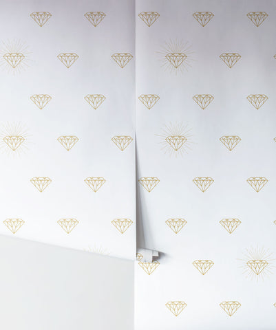 Gold Diamonds Wallpaper from the Muffin & Mani Collection by Milton & King
