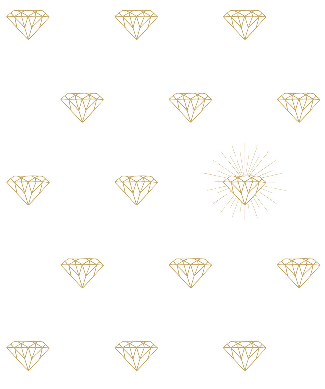 Gold Diamonds Wallpaper From The Muffin Mani Collection By Milton Burke Decor