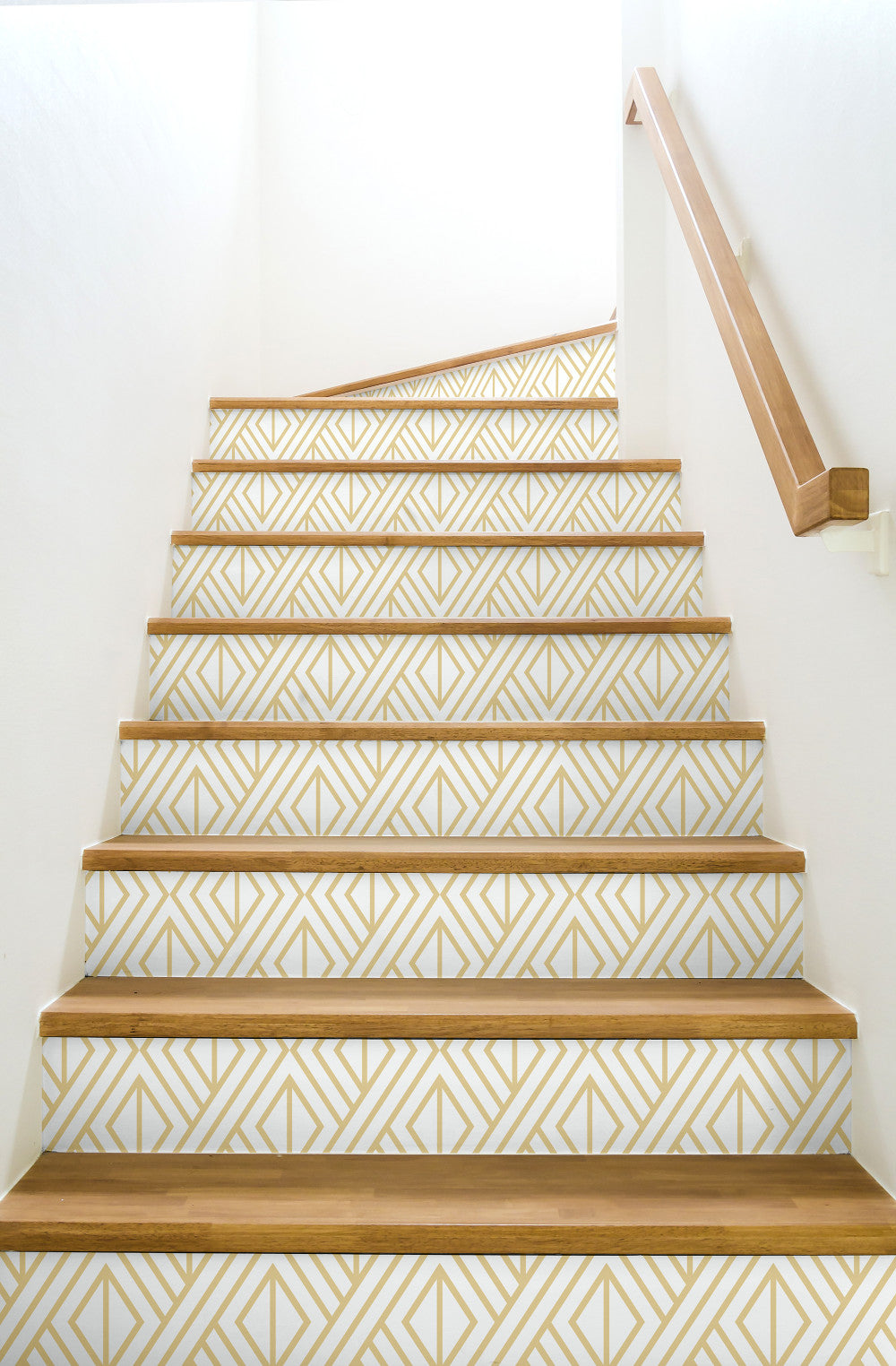 Gold Geo Peel And Stick Wallpaper In Gold And White By