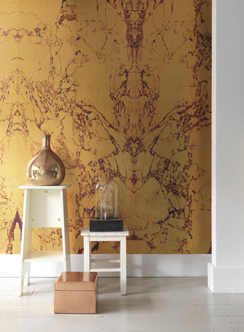 Gold Marble Wallpaper design by Piet Hein Eek for NLXL Wallpaper